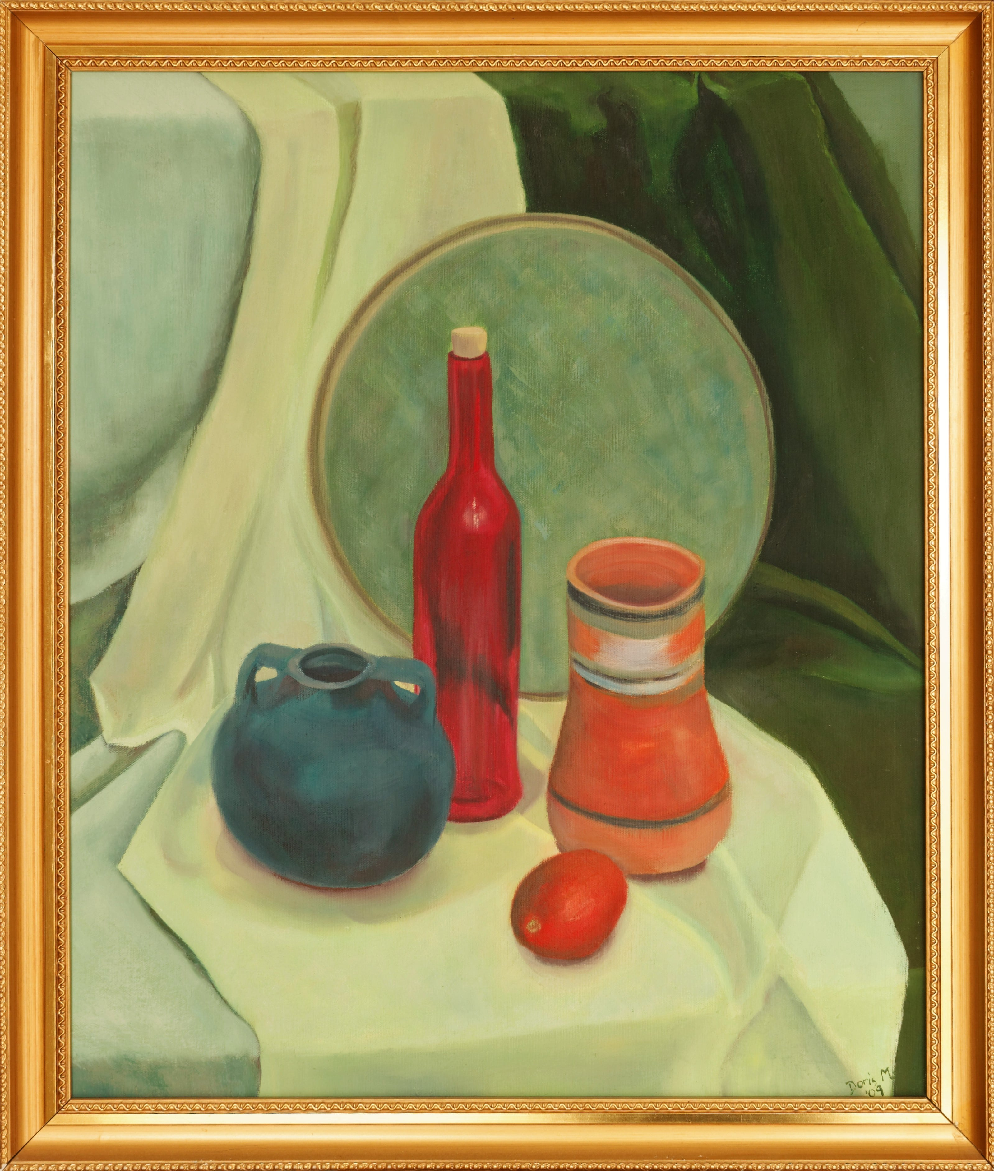 Still Life with Red Bottle